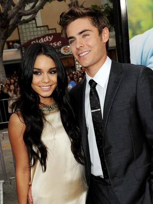 Vanessa Hudgens and Zac Efron at an event not long before they split in 2010.