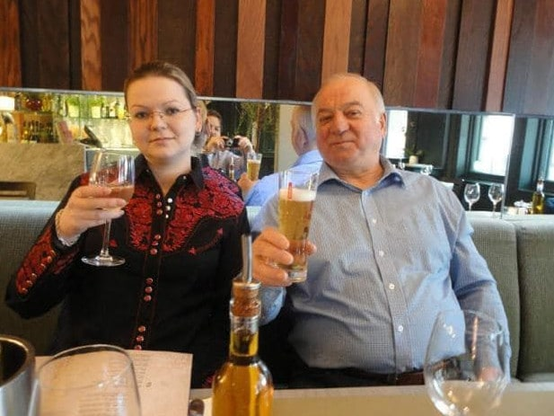 Yulia Skripal with her father Sergei.