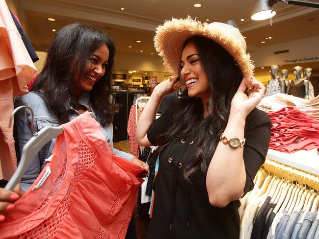 Sherine Metira and her sister Miriam Eryan (right) have been coming to the David Jones Boxing Day Sales for 18 years.
