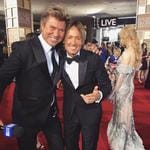 """Richard Wilkins with Keith Urban ... """"The #GoldenGlobes red carpet is full of the biggest stars, but that doesn't mean we can't have some fun! And how great does Nicole look?!"""" Picture: Instagram"""