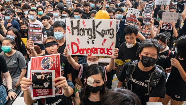 The Hong Kong people have been protesting for more than ten weeks straight.