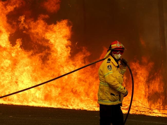 Thousands of people have taken to social media to express their gratitude to the firefighters. Picture: Nathan Edwards