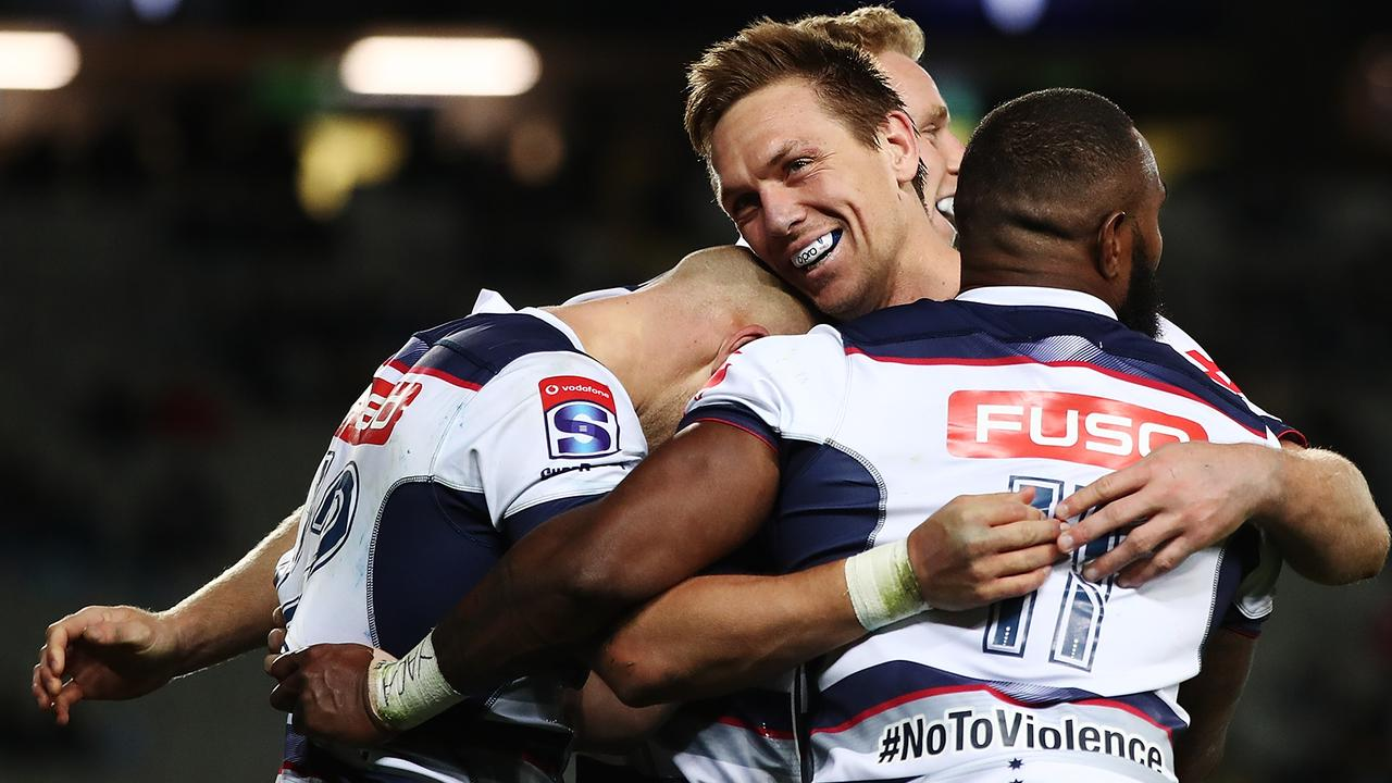 The Rebels beat the Blues to snap a three year Australian drought in New Zealand.