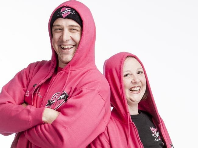 Actor Samuel Johnson and his sister Connie Johnson, who has terminal breast cancer.