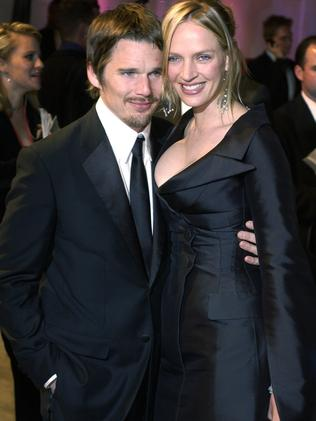 Uma Thurman has two children with her ex-husband, actor Ethan Hawke. Picture: Supplied