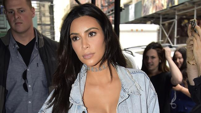 Kim Kardashian, an early adopter of the choker trend. Picture: Getty