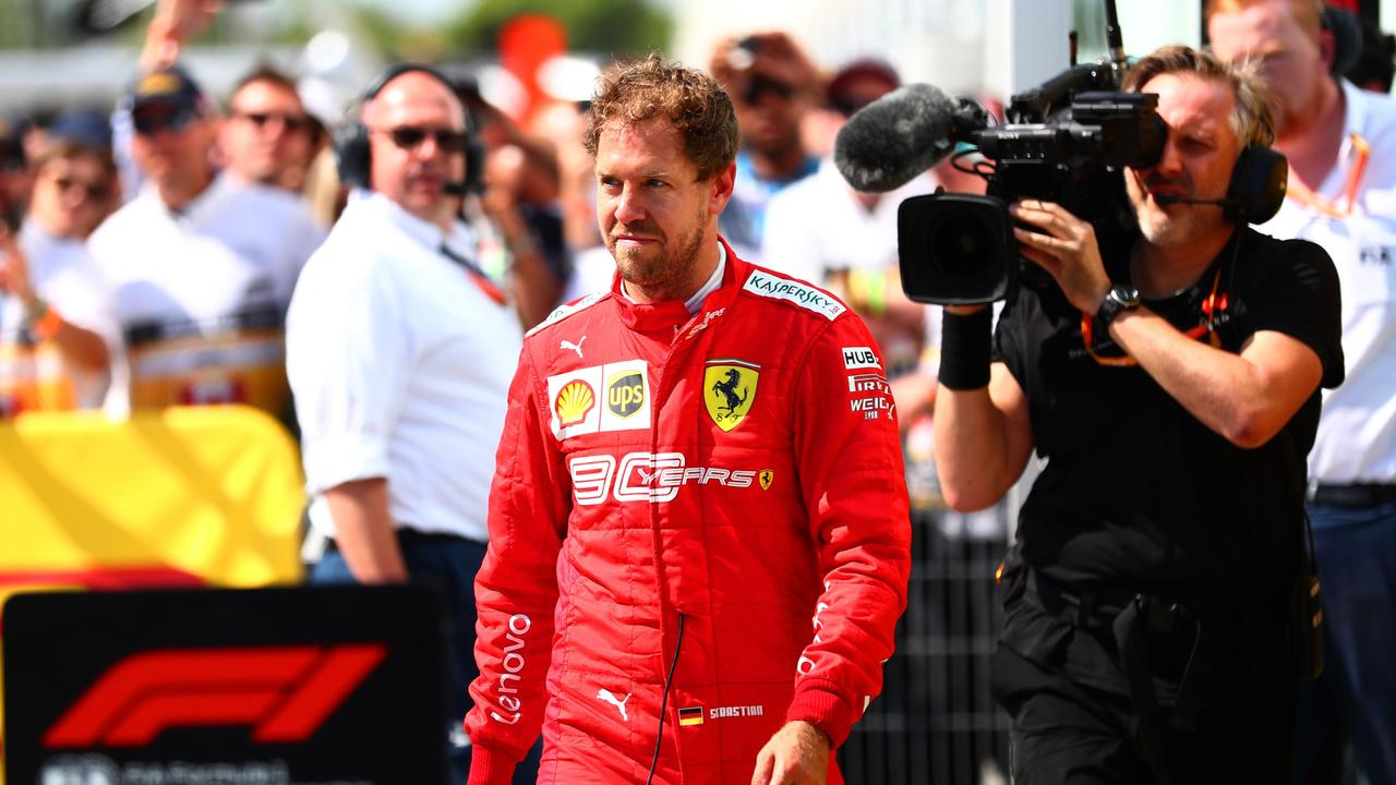 Sebastian Vettel was relegated to P2 after his five-second penalty in Canada.
