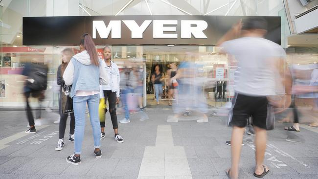 Myer is weighed down by expensive leases. Picture: Mathew Farrell