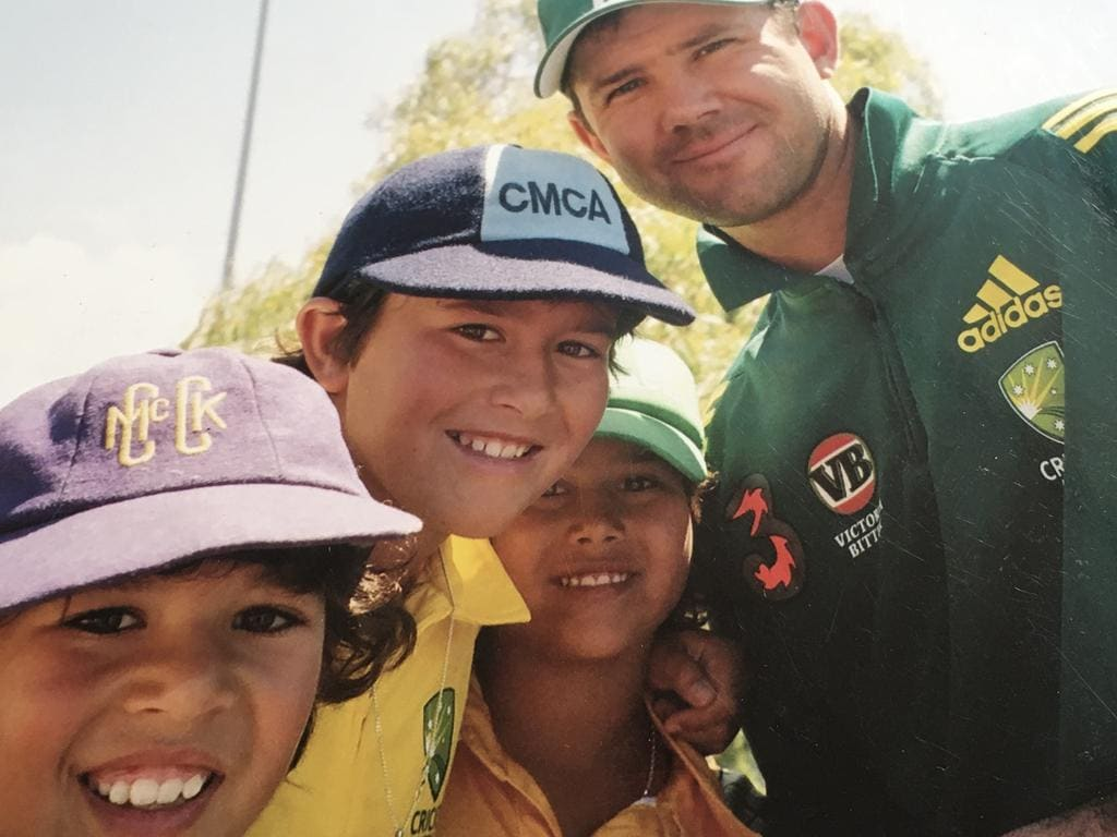 The Agar boys have a photo with Ricky Ponting.