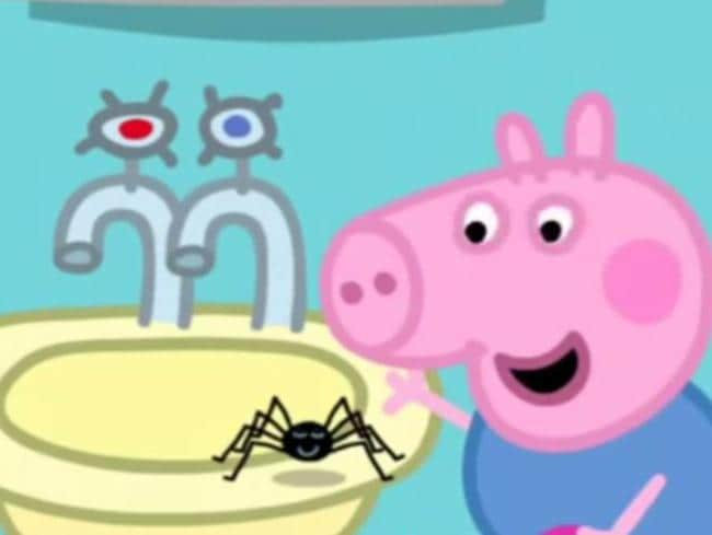 Peppa Pig copped it for encouraging play with potentially harmful spiders. Picture: Supplied