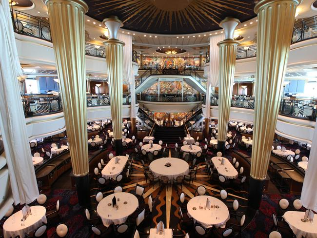 The Sapphire dining room on board the Voyager of the Seas.