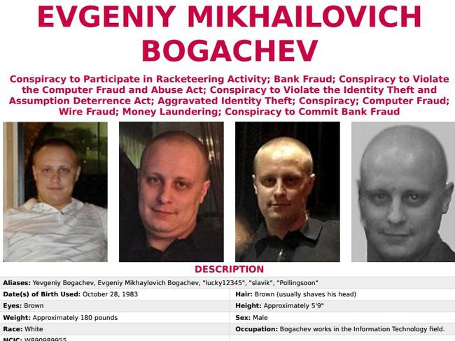 The FBI's wanted poster for the 33-year-old Russian.