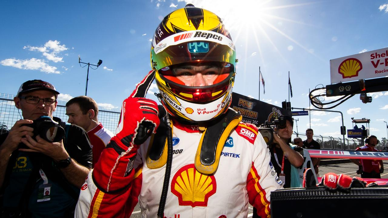 It marks 100 poles for Dick Johnson, and 58 poles for Scott McLaughlin.