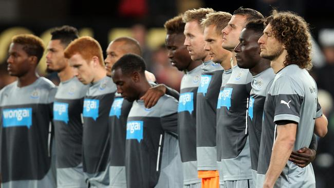 Newcastle United players pay tribute fans John Alder and Liam Sweeney, who were on shot down plane MH17.