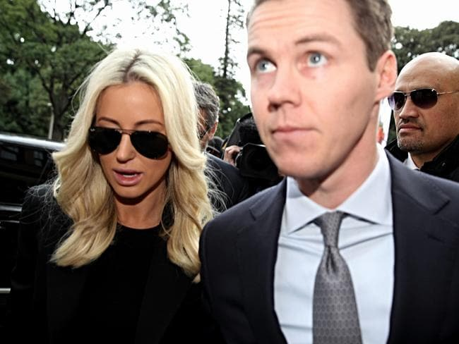Roxy Jacenko and husband Oliver Curtis at NSW Supreme Court for his sentencing for insider trading.