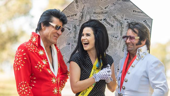 See the Elvis and Priscilla look-a-likes at the annual Parkes Elvis Festival in January 2020. Picture: Supplied