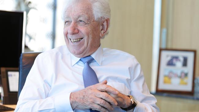 Frank Lowy, former Chairman of the former Westfield Corp who opened a parade of shops in Blacktown that became a multi-billion dollar empire. Photo: Renee Nowytarger