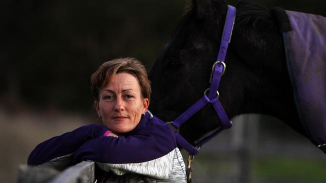 Sally Wynne trains four horses at her base at Cranbourne.
