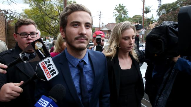 Different level ... actor Ryan Corr outside court last year to face charges for being in possession of heroin.