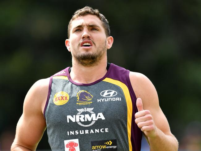Corey Oates during Brisbane Broncos training.