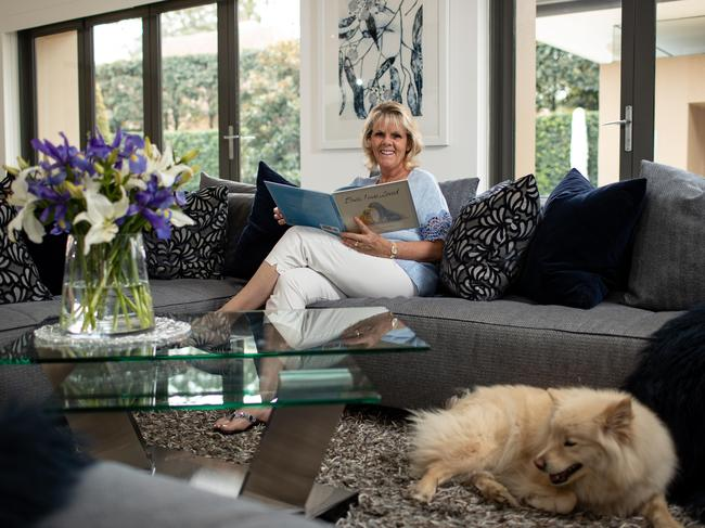 Best-selling children's author Belinda Landsberry at her family home in Wahroonga.