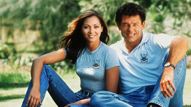 Tania Zaetta and Mike Whitney from TV show 'Who Dares Wins'.