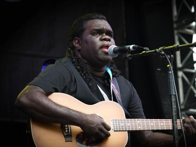 Indigenous singer-songwriter Gawurra will be playing in St.Kilda next friday. Picture: Rob Sferco