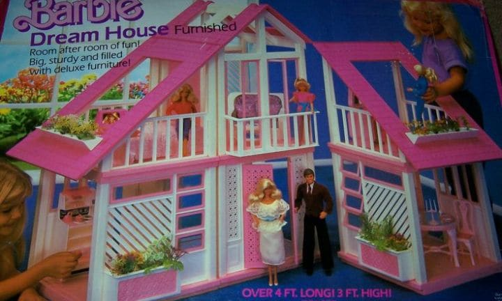 "The BARBIE DREAM HOUSE has been selling kids the white-picket suburban dream since 1990. Furnished with ""deluxe"" plastic furnishings and ""room after room of fun"", here is where countless Barbie and Ken love stories unfolded ... Should we be cringing? Probably."