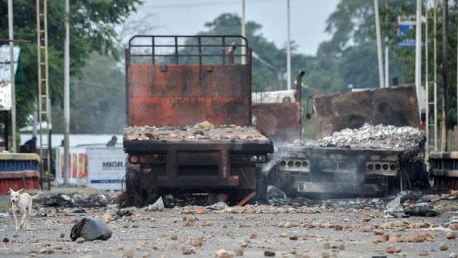 Just one week ago, the border with Colombia was closed due to clashes. Picture: AFP