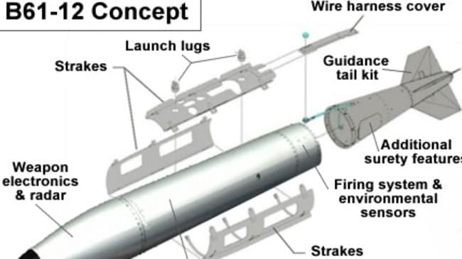 B61 Mod 12 Life Extension Program Tailkit Assembly concept drawing. Picture: Supplied