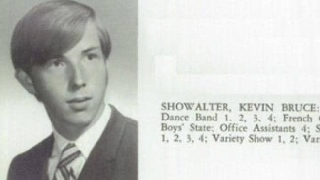 Kevin Showalter's yearbook photo, along with his school activities Picture: The Day