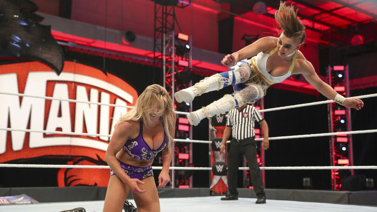 Rhea Ripley and Charlotte Flair stole the show at WrestleMania 36; albeit with no fans in attendance.