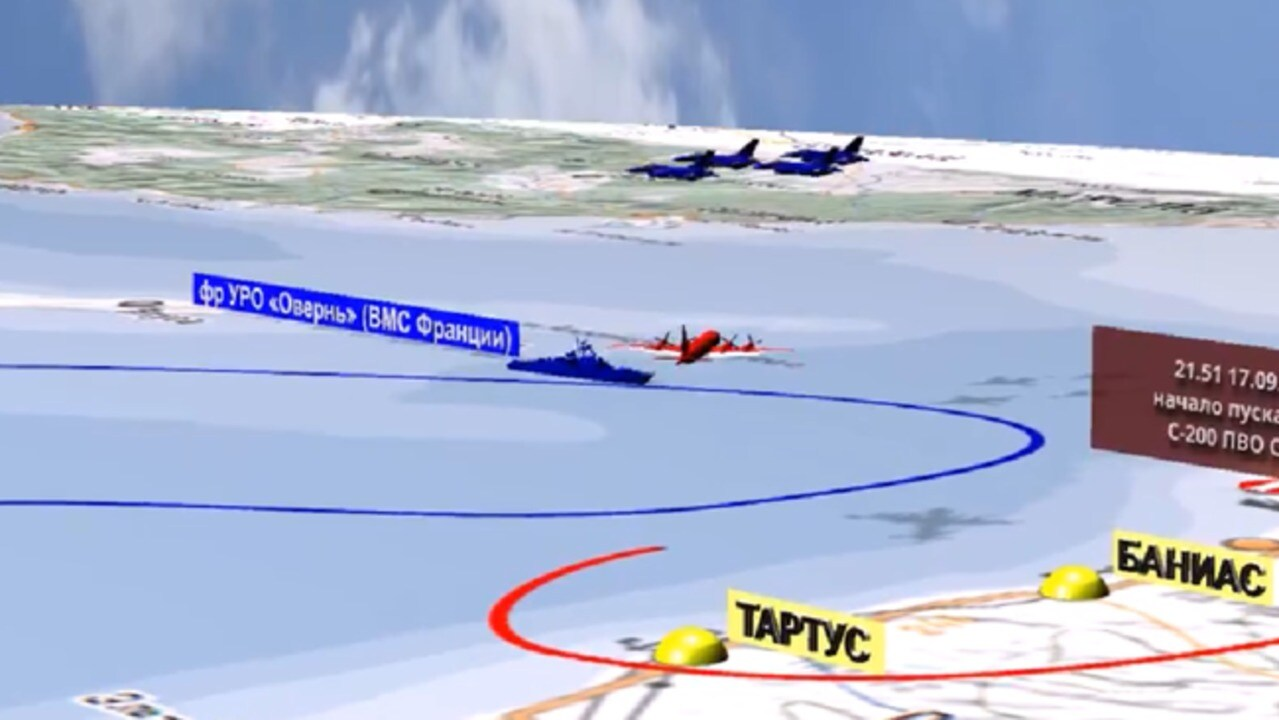 Russian Defense Ministry Releases Animation Blaming Israel for Downed Plane