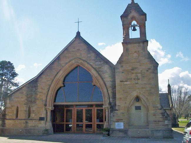 Cornered inside Georgie was raped by John Aitchison in All Saints Church, Ainslie, ACT, whose historic exterior came from Mortuary station, Rookwood. Picture: Cfitzart.