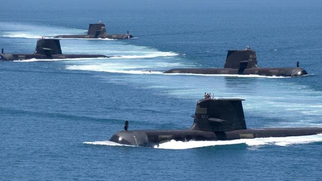 Australia already has six Collins-class submarines and should build updated versions for the future. Picture: Royal Australian Navy