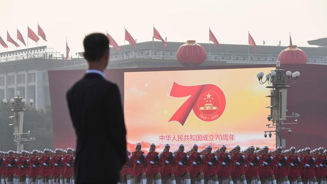 Chinese troops today took part in the country's annual military parade in Beijing.