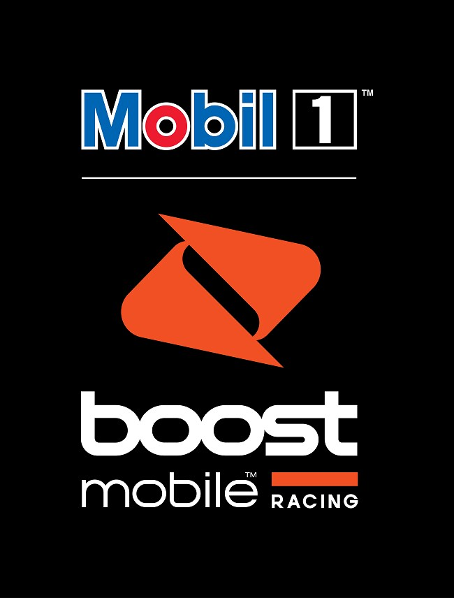 The Mobil 1 Boost Mobile Racing logo.