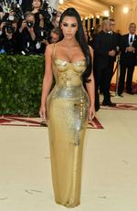 Kim Kardashian attends the Heavenly Bodies: Fashion and The Catholic Imagination Costume Institute Gala at The Metropolitan Museum of Art on May 7, 2018 in New York City. Picture: AFP