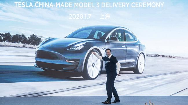 Tesla refutes claims of unintended acceleration, saying numerous crashes can be linked to driver error. (Ding Ting/Xinhua via AP)