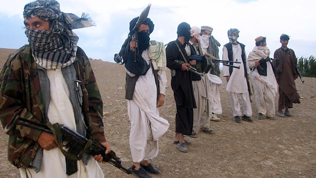 Taliban fighters, pictured in Afghanistan. Picture: AFP