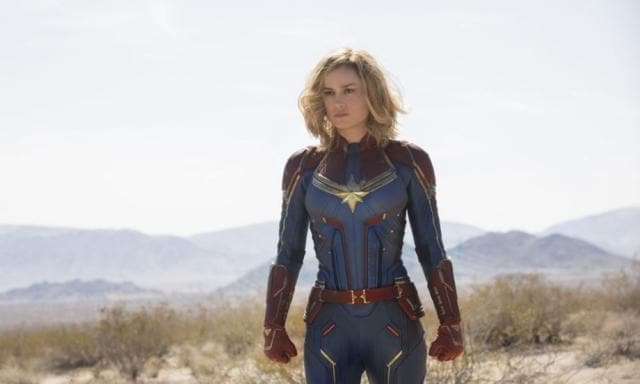 The Captain Marvel costume isn't exactly wedding appropriate. Source: Capital Pictures