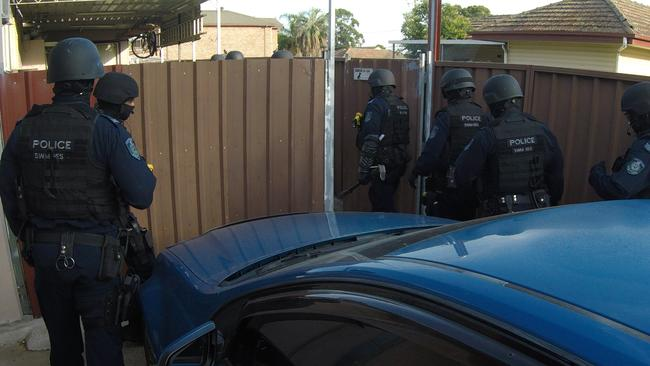 Police arrested the man in Villawood. Picture: NSW Police