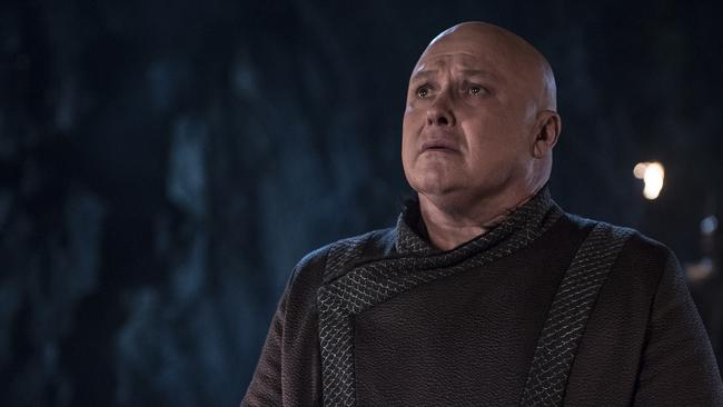 Hill's character Varys met a fiery end. Picture: Supplied/ HBO