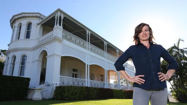 Stefanie Brown at the historic Cintra House which she is selling. Picture: Peter Wallis.