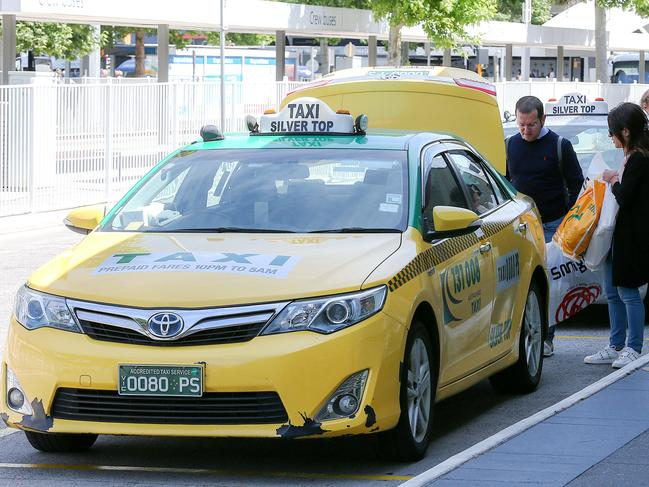 Melbourne taxi drivers are seeking $500 million in compensation from Uber. Picture: Ian Currie