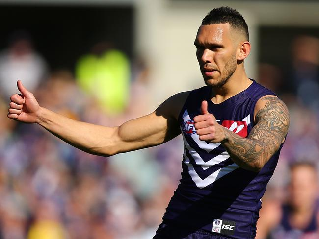 Harley Bennell celebrates a goal. (Photo by Paul Kane/Getty Images)