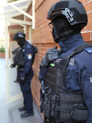 His family home was searched this morning. Picture: NSW Police