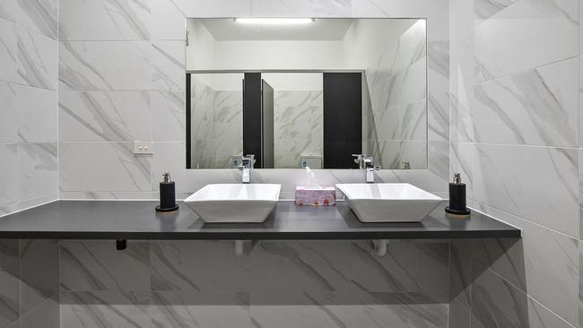 Modern style on show in a bathroom. A sign of things to come?