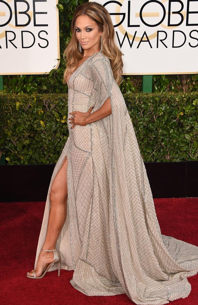 Jennifer Lopez showed some leg in 2015.