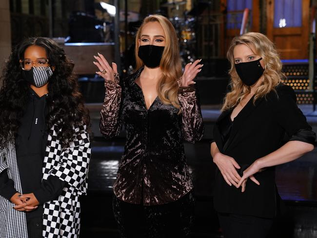 The singer will host SNL this weekend. Picture: Rosalind O'Connor/NBC/NBCU Photo Bank via Getty Images
